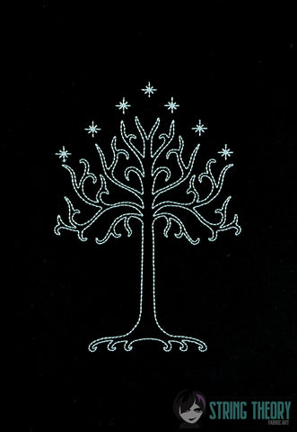 King of the Jewelry Tree of Gondor LIGHT STITCH 5x7 machine embroidery design