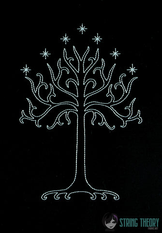 King of the Jewelry Tree of Gondor LIGHT STITCH 6x10 machine embroidery design