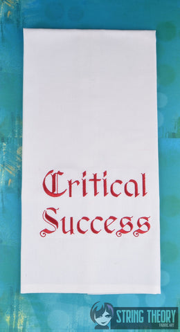 Critical Success 5x7 machine embroidery design