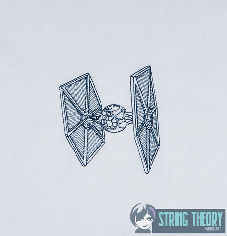 Star Battles Tie Fighter 4x4 machine embroidery design