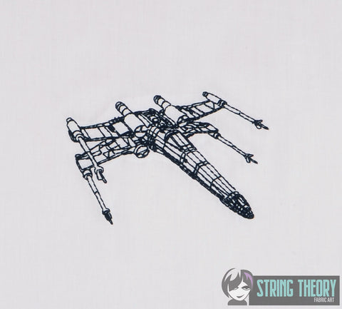Star Battles X-Wing 4x4 machine embroidery design