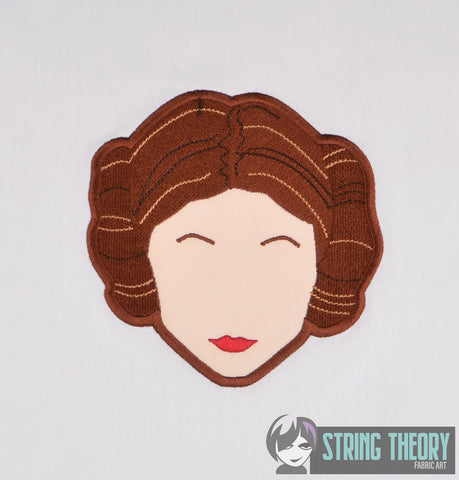 Star Battles Minimalist Space Princess applique 5x7 machine embroiery design