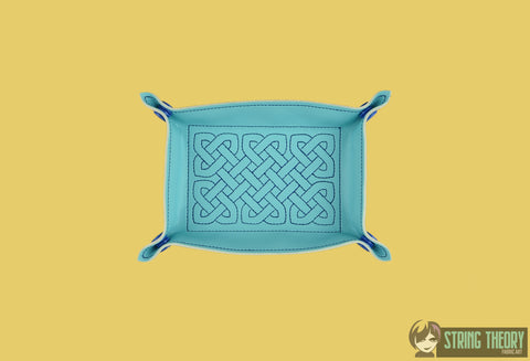 Portable Rectangular Dice Tray - Celtic Knot 5x7 ITH machine embroidery design