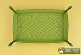 Portable Rectangular Dice Tray SET - Celtic Knot ITH machine embroidery design