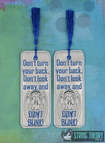 Weeping Angel - DON'T BLINK TRADITIONAL STYLE BOOKMARK 2ITH MACHINE EMBROIDERY DESIGN