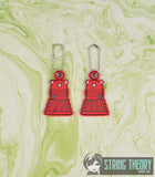 Doctor Who Dalek dangles 2 ITH 4x4 machine embroidery design
