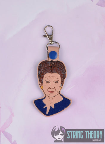 Star Wars General Organa snap tab key fob 4x4 machine embroidery design