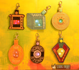 Forever Gem - Flasher SET FOB SIX ITH SNAP TAB KEY FOB 4X4 ITH MACHINE EMBROIDERY DESIGNs