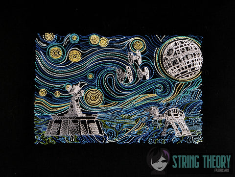 EMPIRE STARRY WARS 8x8 MACHINE EMBROIDERY DESIGN