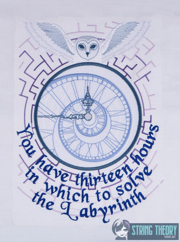 Maze You Have 13 Hours 8x12 machine embroidery design