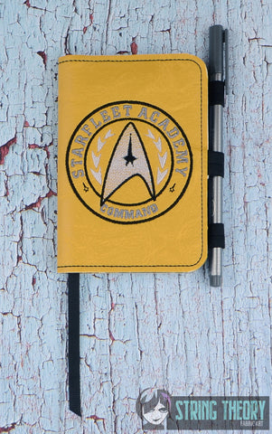 Star Exploration Academy- Command POSH BOOK NOTEBOOK COVER ITH 5X7 MACHINE EMBROIDERY DESIGN