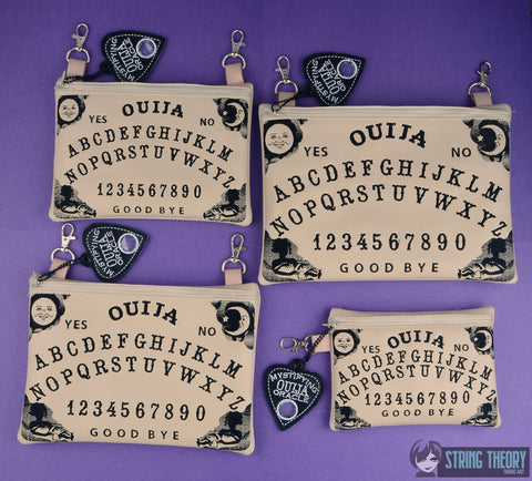 Ouija zip bag SET with planchet dangle machine embroidery design