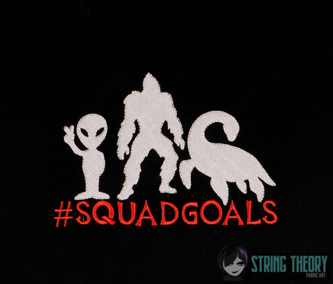 #Sqaudgoals Cryptozoological Squad 5x7 Machine embroidery design