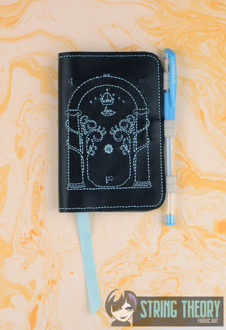 King Of The Jewelry Doors of Durin Speak Friend and Enter POSH BOOK NOTEBOOK COVER ITH 5X7 MACHINE EMBROIDERY DESIGN