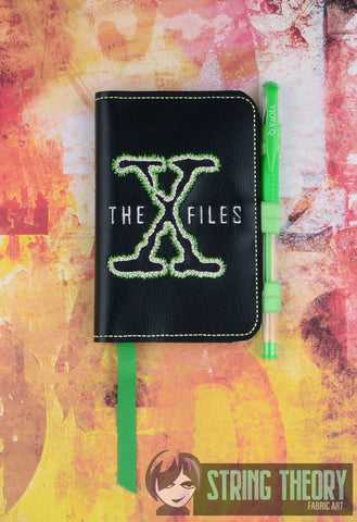 Alien Investigation The Truth is out there Posh Book Notebook Cover ITH 5x7 Machine embroidery design