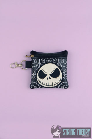 Skull Head zip bag 4X4 ITH MACHINE EMBROIDERY DESIGN