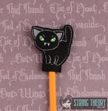 Cutie Vamp Cat pencil toppers 4x4 3ITH machine embroidery design
