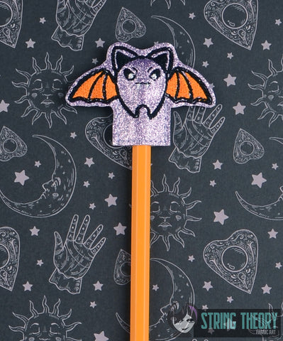Cutie Vamp Bat pencil toppers 4x4 4ITH machine embroidery design