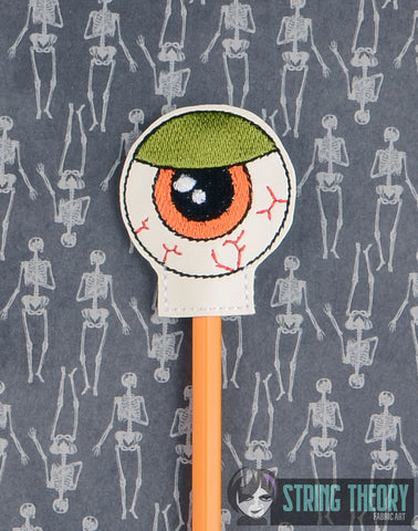 Monster Eyeball pencil toppers 4x4 4ITH machine embroidery design