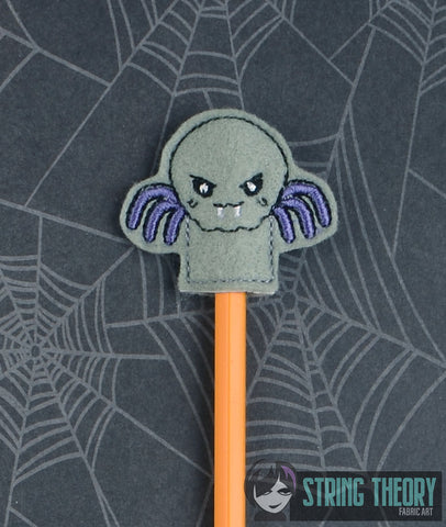 Cutie Cutie Vamp Spider pencil toppers 4x4 4ITH machine embroidery design
