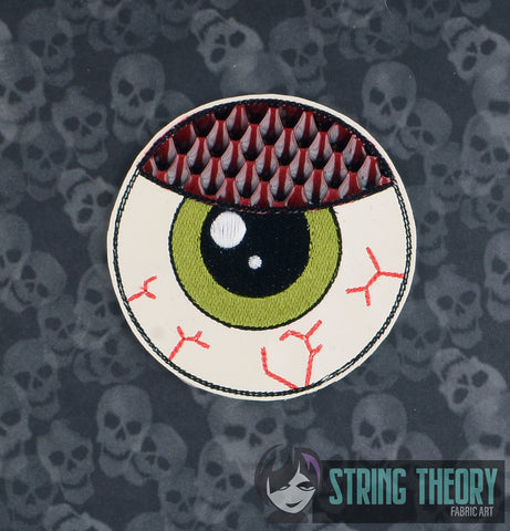 Monster Eyeball Finger puppet 4x4 ITH machine embroidery design