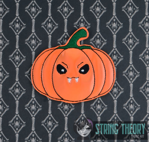 CUTIE Vamp Pumpkin FINGER PUPPET 4X4 ITH MACHINE EMBROIDERY DESIGN