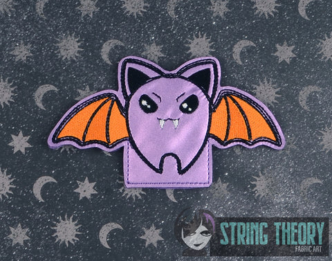 Cutie Vamp Bat FINGER PUPPET 4X4 ITH MACHINE EMBROIDERY DESIGN