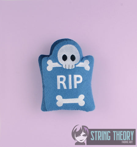 Cutie tombstone stuffie 5x7 machine embroidery design