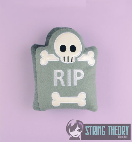 Cutie Tombstone stuffie 6x10 machine embroidery design