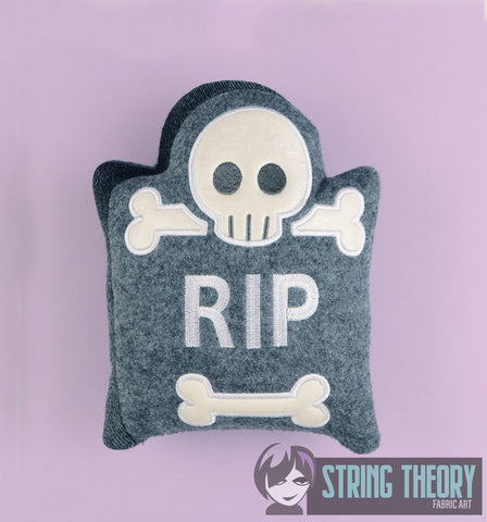 Cutie Tombstone stuffie 7x11 machine embroidery design