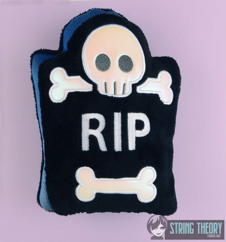 Cutie Tombstone stuffie 8x12 machine embroidery design