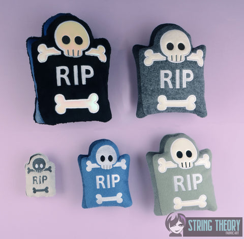Cutie Tombstone Stuffie SET machine embroidery design
