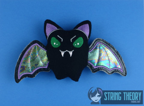 Cutie Vamp Bat stuffie 5x7 machine embroidery design