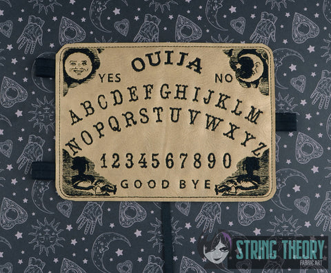 Ouija Posh Book ITH notebook cover 5x7 machine embroidery design