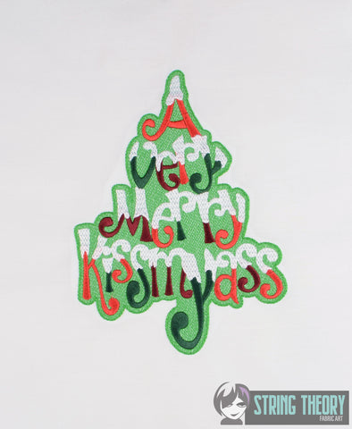 A Very Merry Kissmyass 6x10 machine embroidery design