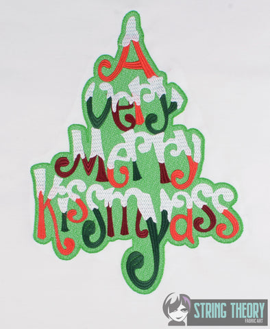 A Very Merry Kissmyass 8x12 machine embroidery design