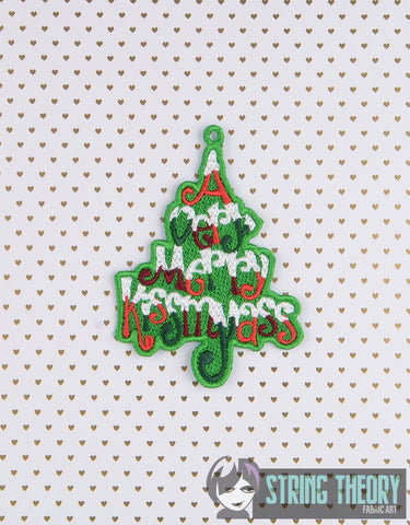 FSL Free Standing Lace A Very Merry Kissmyass 4x4 ITH Machine Embroidery Design