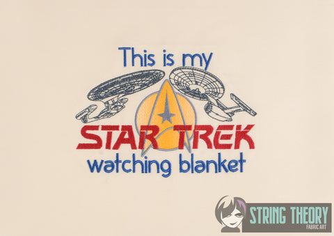 This is my Star Exploration Watching blanket 5x7 machine embroidery design WITH and WITHOUT Knockdown stitch