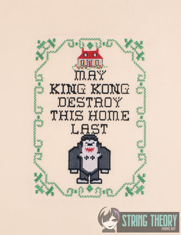 May King Kong Destroy this House Last Sampler 5x7 Machine embroidery design