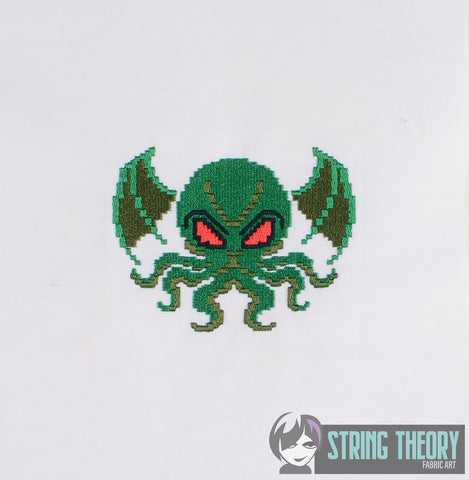 8 Bit Cthulhu 4x4 machine embroidery design