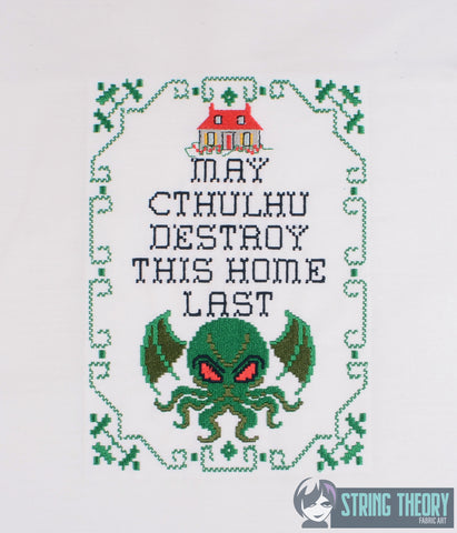 May Cthulhu destroy this house last 8 bit sampler 6x10 machine embroidery design