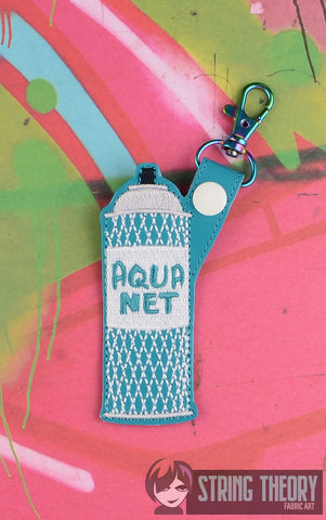 Aquanet snap tab key fob 4x4 machine embroidery design