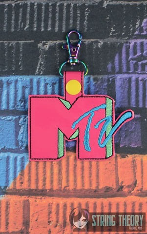 Mtv snap tab key fob 4x4 machine embroidery design