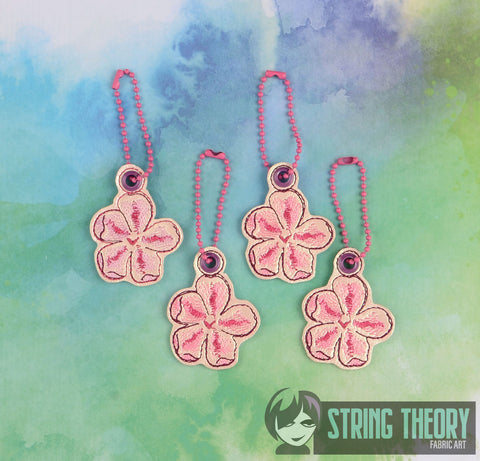 Cherry Blossom dangle 1ITH AND 4ITH 4X4 MACHINE EMBROIDERY PATTERN