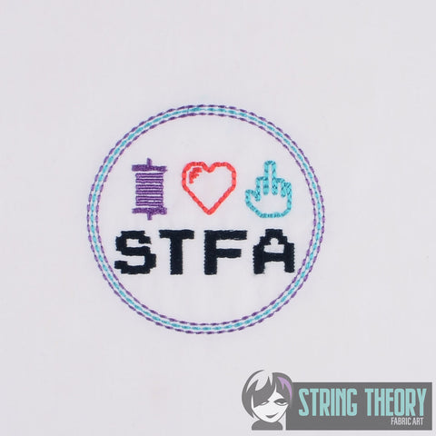 STFA Fan Logo 3 inch diameter 4x4 Machine embroidery design