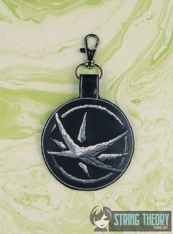 Stone Star snap tab key fob 4x4 machine embroidery design