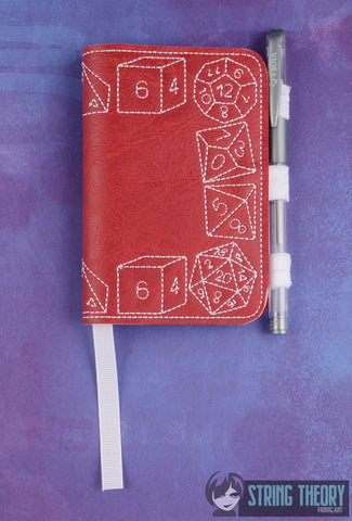 DnD Dice POSH BOOK NOTEBOOK COVER ITH 5X7 MACHINE EMBROIDERY DESIGN