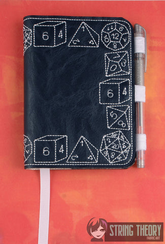 DnD Dice LUXE BOOK NOTEBOOK COVER for A6 notebooks ITH 6x10 MACHINE EMBROIDERY DESIGN
