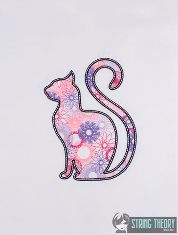 Spiro Cat 5x7 machine embroidery design