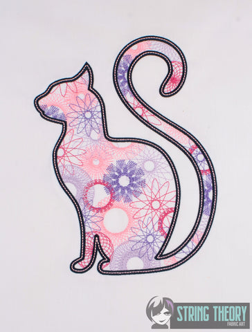 Spiro Cat 7x11 machine embroidery design